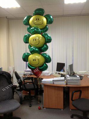 Современное оформление кабинета на день рождение шариками недорого