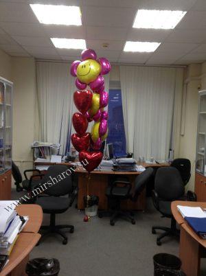 Необычное оформление кабинета на день рождение воздушными шариками в Москве