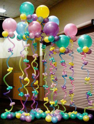 Стильное оформление класса на день рождение воздушными шариками недорого