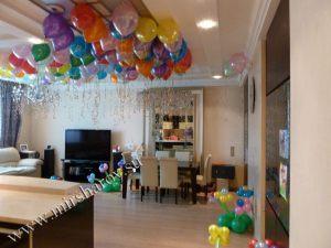Интересное оформление квартиры на день рождение воздушными шариками срочно