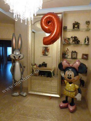 Интересное оформление квартиры на день рождение шариками срочно