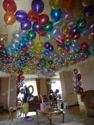 Стильное оформление квартиры на день рождение воздушными шарами