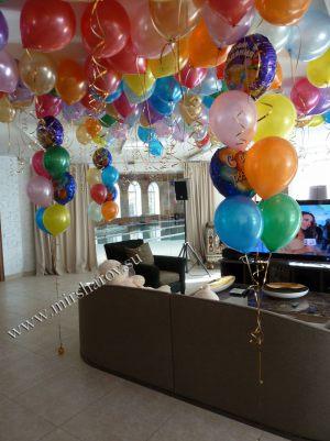 Оригинальное оформление квартиры на день рождение воздушными шариками недорого