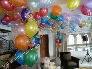 Недорогое оформление квартиры на день рождение шарами срочно