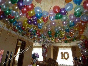 Необычное оформление квартиры на день рождение воздушными шариками