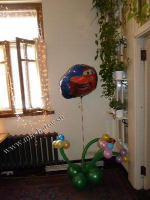 Красивое оформление квартиры на день рождение шарами недорого