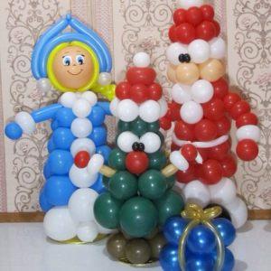 Тематические надувные шары на Новый год в Москве