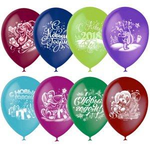 Стильные надувные шары на Новый год недорого