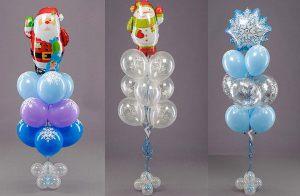 Необычные надувные шары на Новый год в Москве