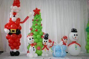 Стильные надувные шары на Новый год в Москве
