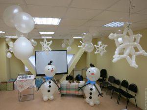 Тематическое оформление офиса на новый год шариками недорого