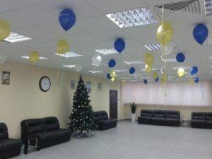 Оригинальное оформление офиса на новый год воздушными шариками срочно