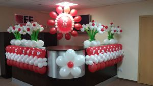 Необычное оформление офиса на день рождение шарами срочно