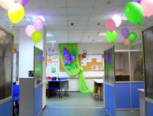 Оригинальное оформление офиса на день рождение
