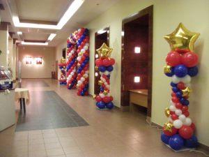 Бюджетное оформление офиса на день рождение воздушными шарами в Москве