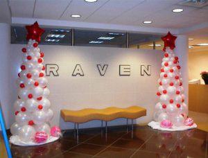 Красивое оформление офиса на день рождение шарами недорого