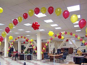 Бюджетное оформление офиса на день рождение шариками в Москве