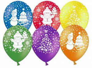 Оригинальное украшение окон к Новому году шарами срочно
