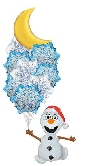 Стильное украшение окон к Новому году воздушными шариками срочно