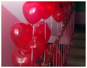 Красивое оформление подъезда на день рождения воздушными шариками