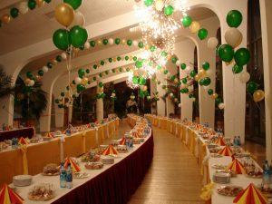 Необычное оформление ресторана на день рождение шариками в Москве