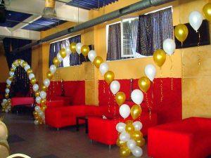 Стильное оформление ресторана на день рождение шарами недорого