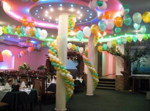 Стильное оформление ресторана на день рождение недорого