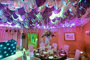 Оригинальное оформление ресторана на день рождение шарами в Москве