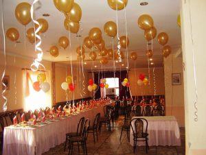Стильное оформление ресторана на день рождение шарами срочно