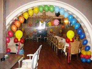 Оригинальное оформление ресторана на день рождение воздушными шарами недорого