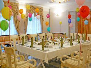 Недорогое оформление ресторана на день рождение в Москве
