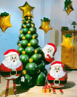Интересное украшение комнаты новогодними шарами заказать в Москве