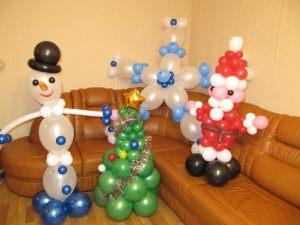 Тематическое украшение комнаты новогодними шарами срочно