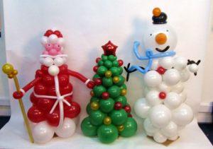 Интересное новогоднее оформление шарами в детском саду недорогое