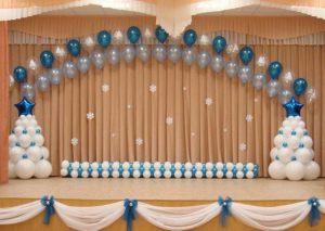 Интересное новогоднее оформление шарами в детском саду заказать в Москве
