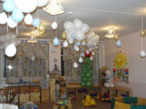 Недорогое новогоднее оформление шарами в детском саду заказать