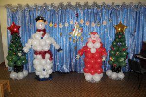 Бюджетное новогоднее оформление шарами в детском саду срочно