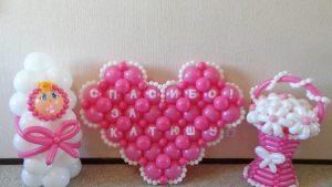 Тематическое шары на выписку из роддома для девочки воздушными шарами в Москве