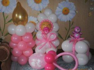Оригинальное шары на выписку из роддома для девочки воздушными шариками недорого