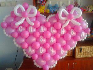 Интересное шары на выписку из роддома для девочки шариками недорого