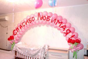 Оригинальное шары на выписку из роддома для девочки шариками срочно