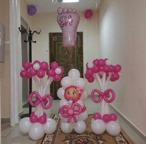 Интересное шары на выписку из роддома для девочки шариками срочно