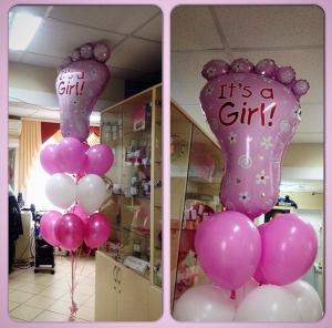 Необычное шары на выписку из роддома для девочки воздушными шарами