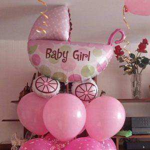 Современное шары на выписку из роддома для девочки