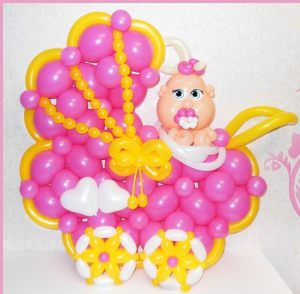 Недорогое шары на выписку из роддома для девочки воздушными шариками срочно