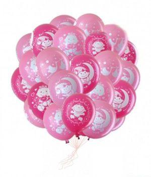 Красивое шары на выписку из роддома для девочки шариками в Москве