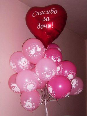 Интересное шары на выписку из роддома для девочки шарами недорого