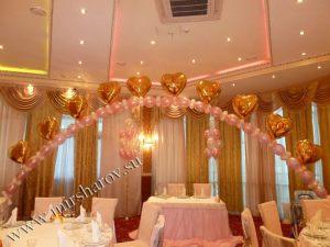 Красивое оформление стола на день рождение воздушными шарами