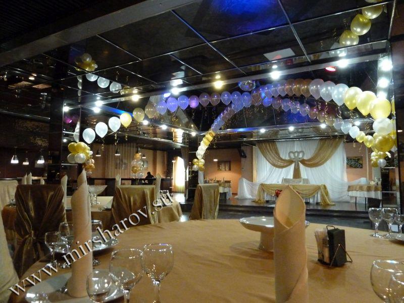 Украшение свадеб шарами