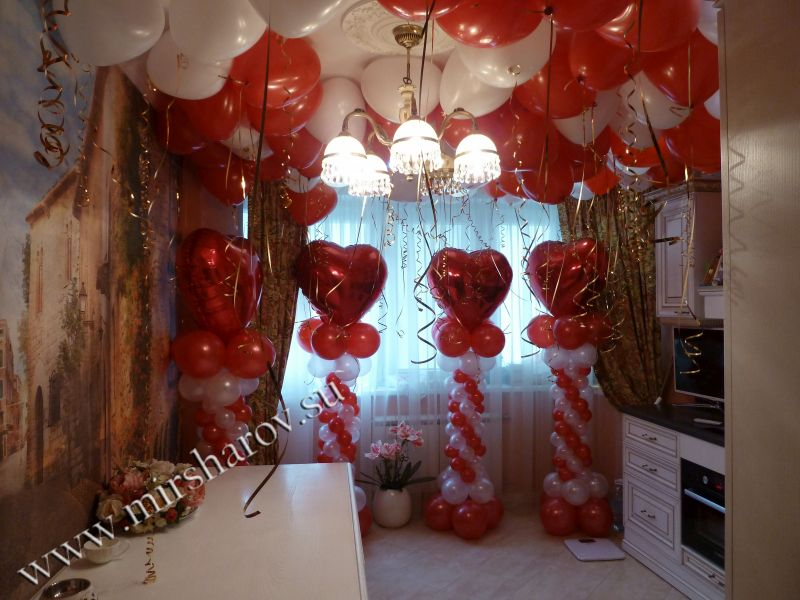 Оформление комнаты на свадьбу